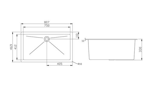 Polypropylene Lab Sink 807x469