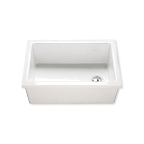medium larch enamel lab sink