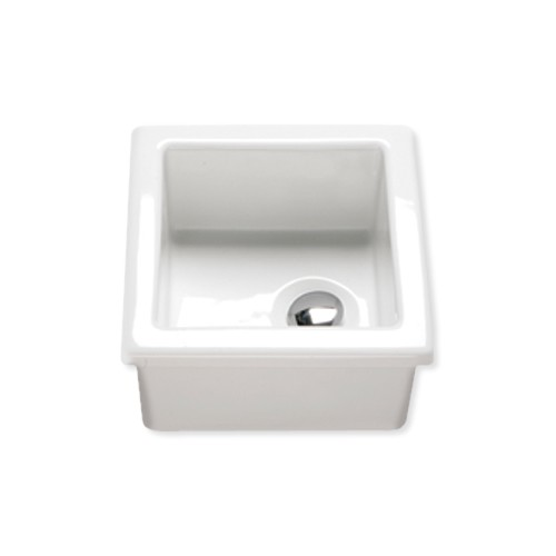 small larch enamel lab sink