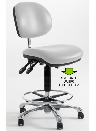 CR-H lab seat with foot ring